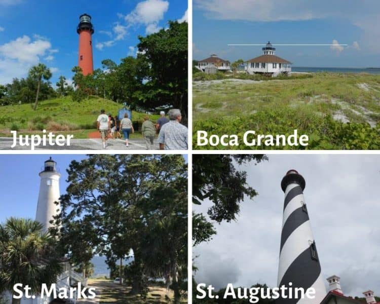 Four Florida lighthouses