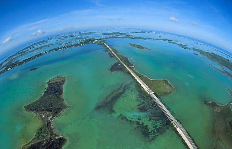 LowerKeysAerial 1024 Florida Keys Overseas Highway Mile-Marker Guide