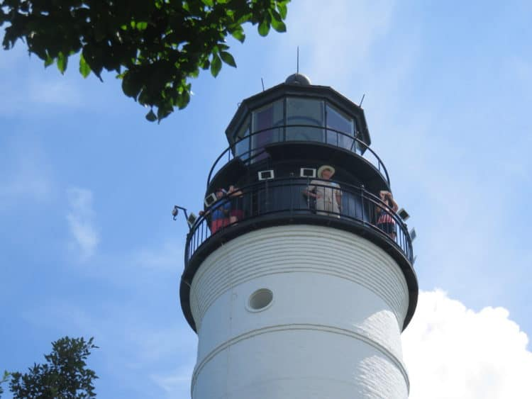 Florida lighthouse in the Florida Keys: Key West Lighthouse has the best view of the island. (Photo: Bonnie Gross)