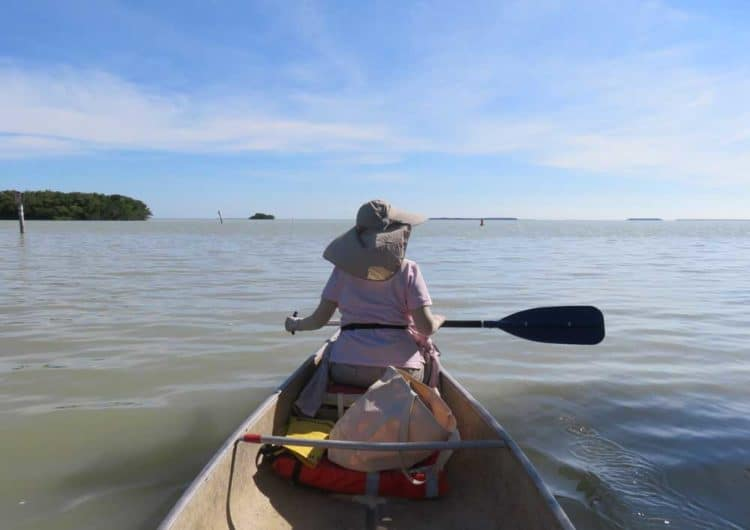 Paddling into Snake Bight near Flamingo in Everglades National Park. (Photo Bonnie Gross)