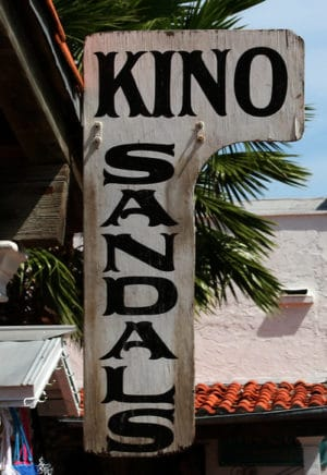 Kino Sandals: These sandals have been popular prizes of Key West shopping for decades,