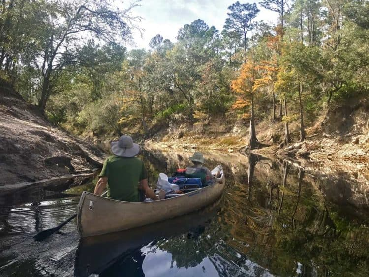 A canoe on the Suwanee