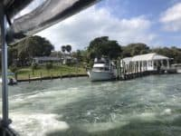 Cabbage Key seen from the departing Island Girl ferry. (Photo: Bonnie Gross)