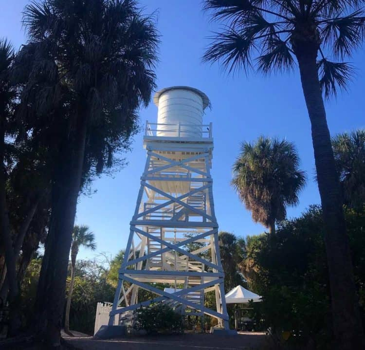 cabbage key water tower Cabbage Key: Old Florida island for kayaking, history, atmosphere