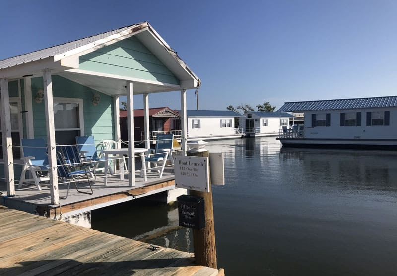 Houseboat rentals on Big Pine Key. (Photo: Bonnie Gross)