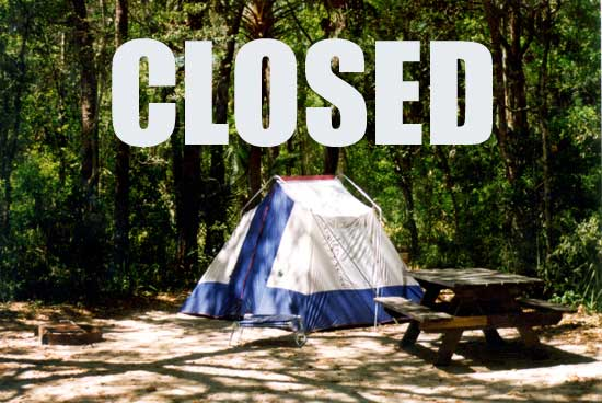 2020 3 20 CLOSED campground Stay safe, stay well