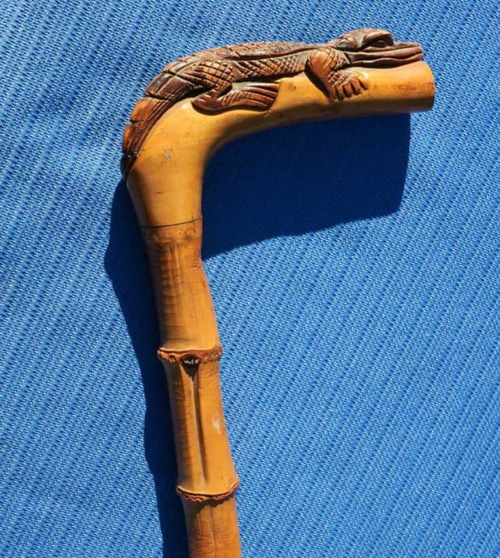 Victorian carved alligator cane (Photo: Doug Alderson)