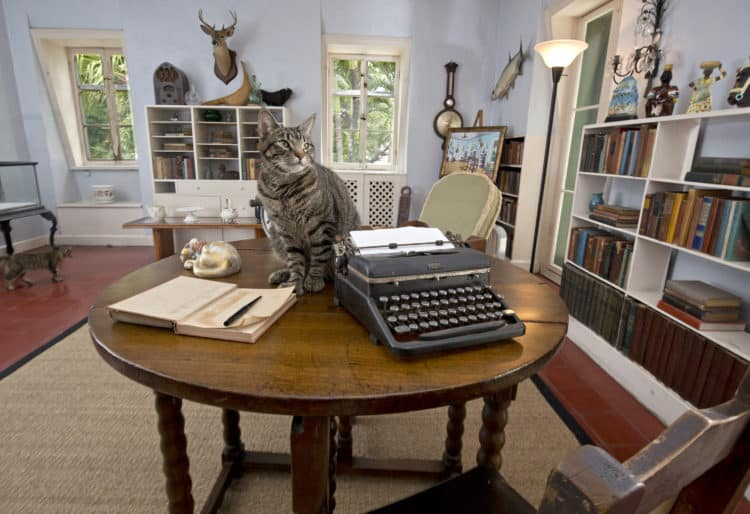 Hemingway in Key West: Ernest Hemingway's writing room.