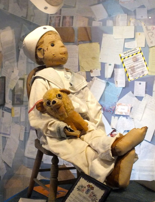 Haunted places in Florida: Robert the Doll at the Fort East Martello Museum.