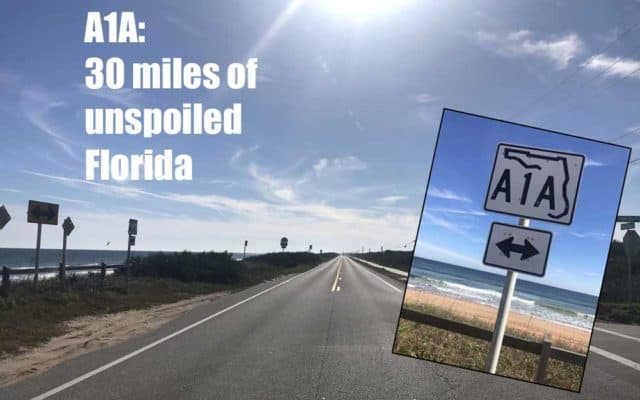 A1A open road with type Florida A1A: Best section for superb views & intriguing history