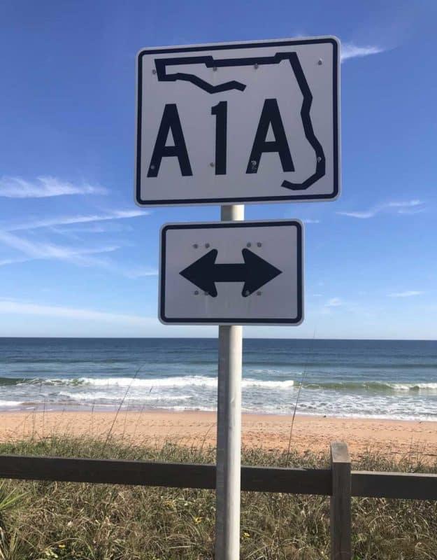 Florida A1A and a pristine beach in Flagler County. (Photo: Bonnie Gross)