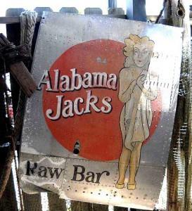 Alabama Jacks raw bar sign1 Alabama Jack's: The best start to a Florida Keys roadtrip