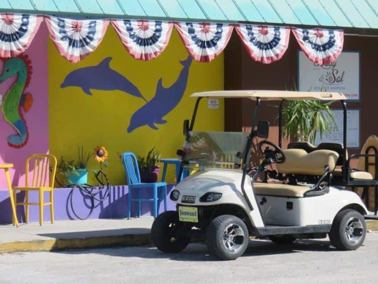 Golf carts are the island way of life on Anna Maria Island.