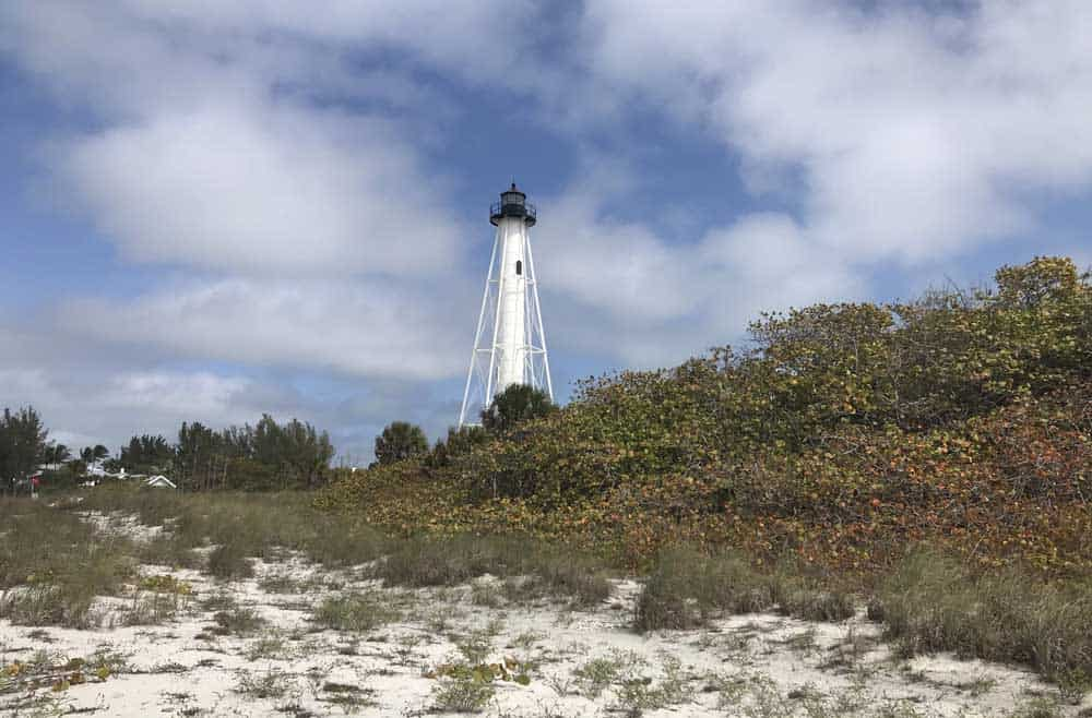 The Gasparille Island Lighthouse on Boca Grande is located in a state park with an expansive white sand beach. (Photo: Bonnie Gross)