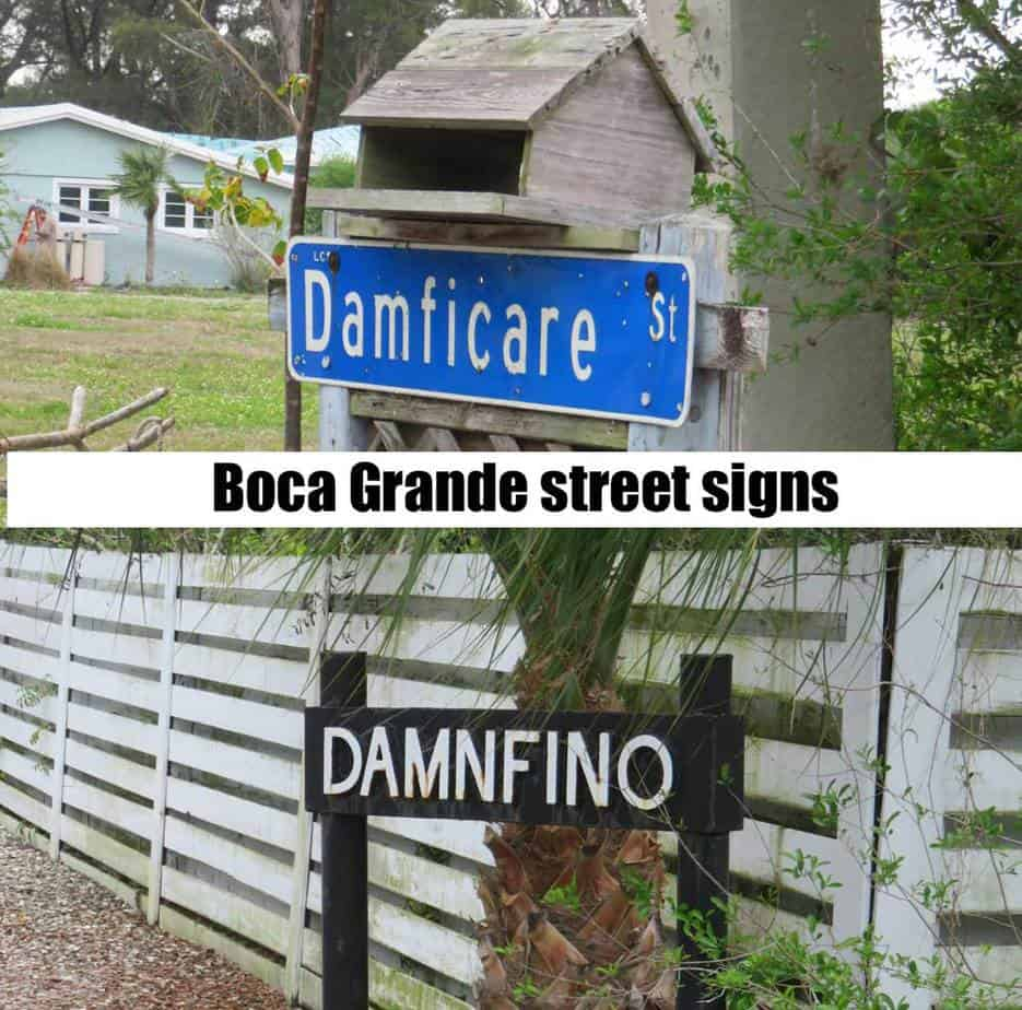 We loved the whimsical streets signs we encountered as we bicycled around Boca Grande. (Photo: David Blasco)