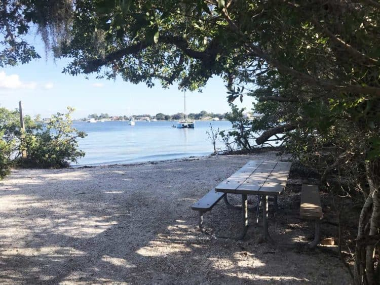 The DeSoto National Memorial has benches and picnic tables with scenic views of the Bradenton River. (Photo: Bonnie Gross)