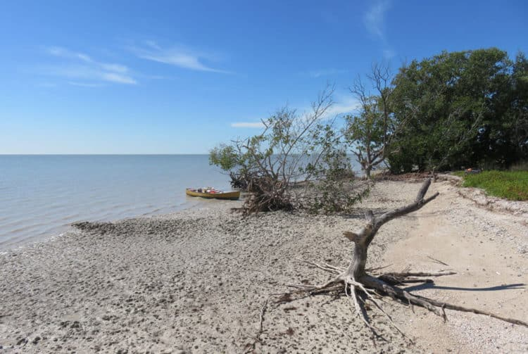 East Clubhouse Beach is another wilderness campsite. Much smaller than East Cape Sable, it only accommodates two groups of campers. We stopped here for a picnic. (Photo: Bonnie Gross)