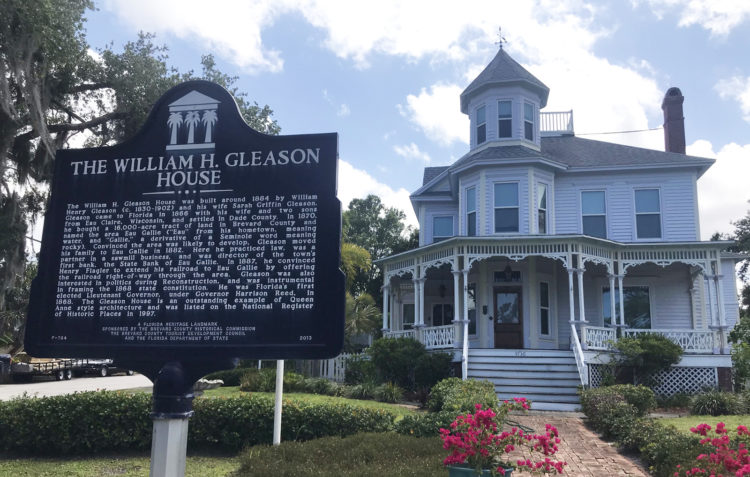 The Gleason House in Eau Gallie is one of many beautiful old homes located along the Indian River Lagoon in this historic neighborhood in Melbourne.