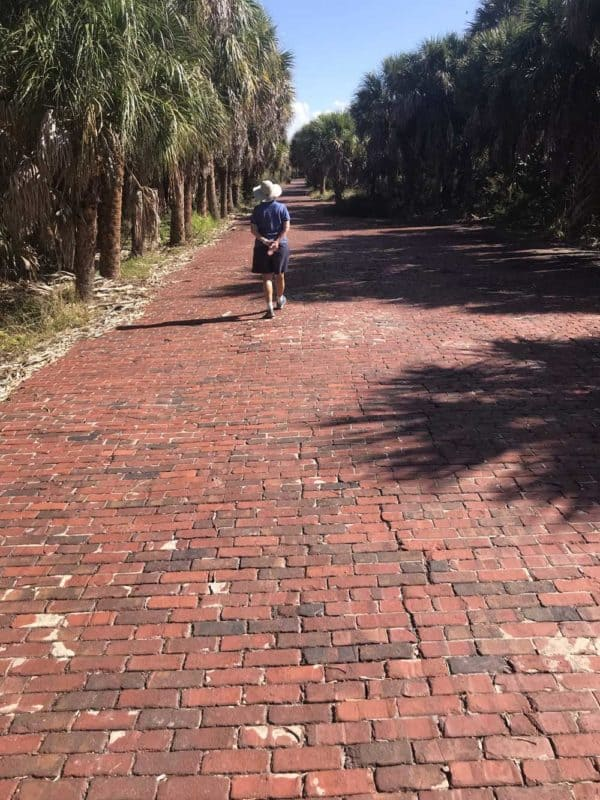 At Egmont Key State Park, the red brick roads date back to the Spanish American War, when Fort Dade was built on the remote island in the mouth of Tampa Bay. (Photo: David Blasco)