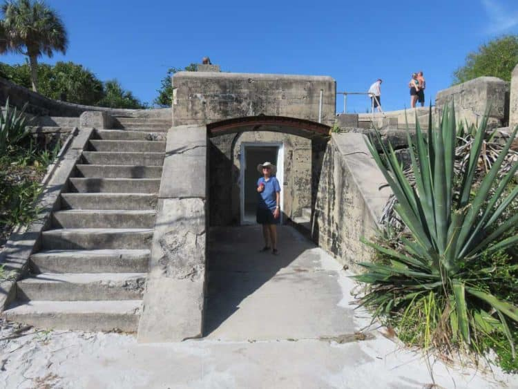 The historic Fort Dade on Egmont Key is surrounded by jungle vegetation and open for exploration by visitors. (Photo: David Blasco)
