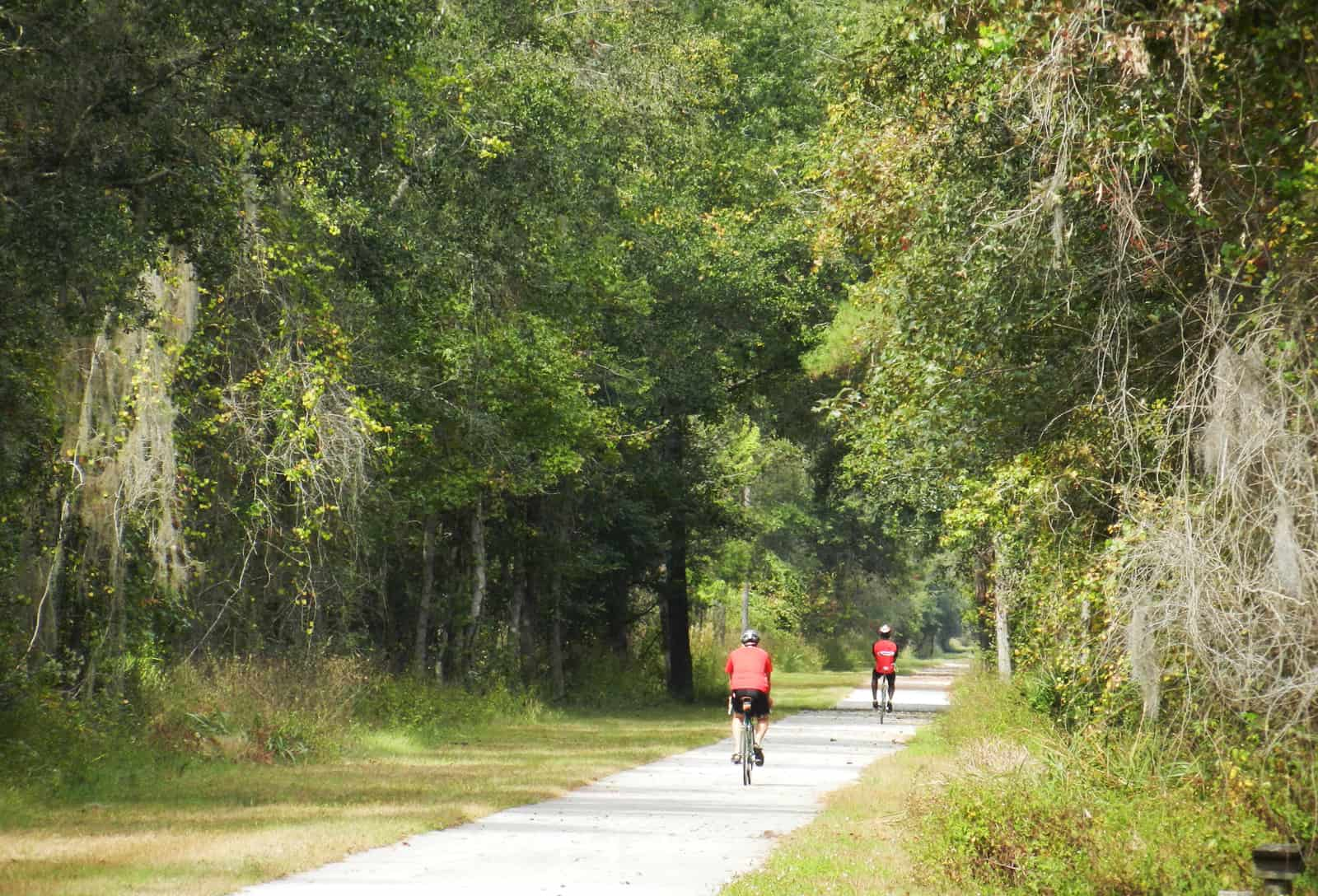 Gainesville-Hawthorne Trail is one of the state's best bike trails. (Photo Bonnie Gross)