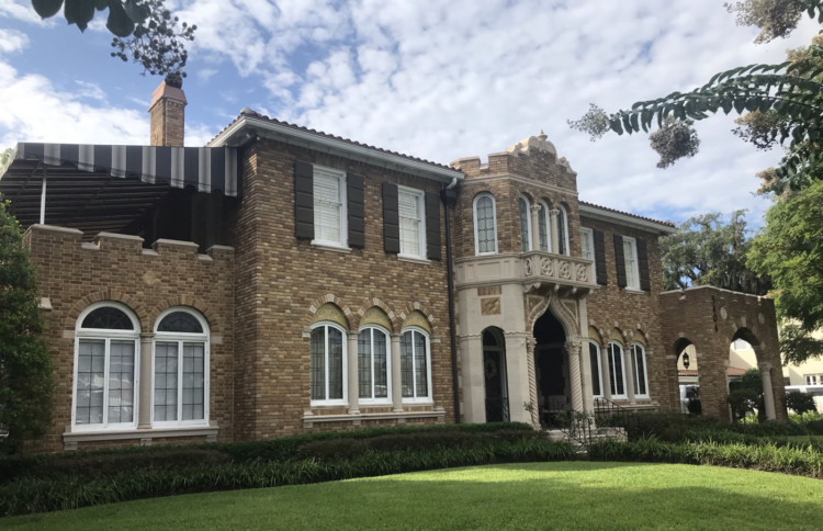 #8 on the tour of historic homes of Riverside Avondale Park: Max Knauer Residence - 3404 St. Johns Ave. Archirect Jefferson Powell had just returned from a trip to Venice when he designed this Mediterranean Revival residence that is inspired a Venetian palace. Information courtesy: Jacksonville's Architectural Heritage-Landmarks for the Future.