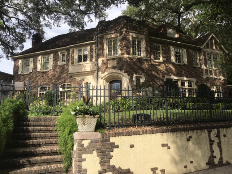 #9 on the tour of historic homes of Riverside Avondale Park: Witschen Residence – 1822 Edgewood Avenue. Architect Jefferson Powell used Tudor and Jacobethan Revival motifs to create a castle-like home. It occupies a prominent location on an elevated corner. Information courtesy: Jacksonville's Architectural Heritage-Landmarks for the Future.