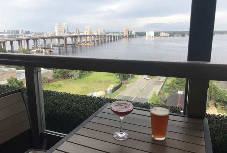 Visiting Jacksonville: You can't beat the view from the rooftop bar at River and Post, a restaurant and bar in the Riverside Avondale Park historic district. (Photo: Bonnie Gross)