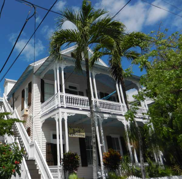 Key West Bed and Breakfast, 415 William Street, is a turn-of-the-century house decorated with original art, vibrant color and serving a spectacular breakfast . (Photo: Bonnie Gross)