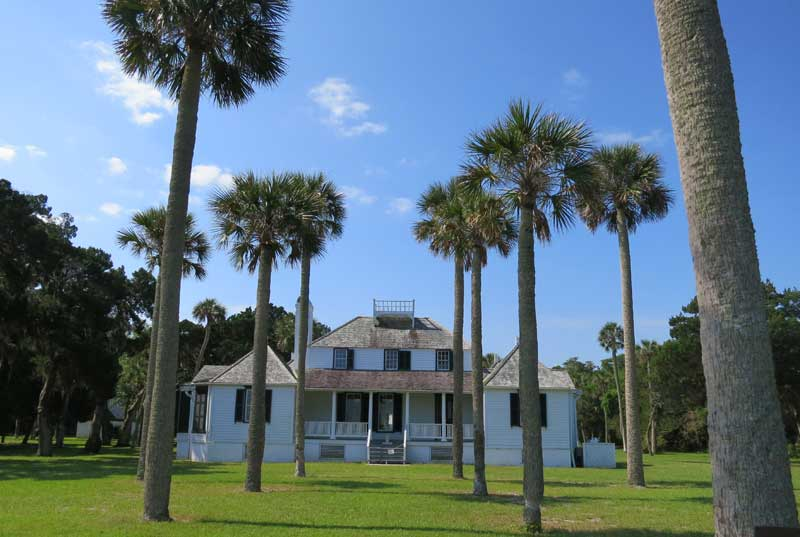The 1798 Kingsley Plantation house faces the Fort George River. It's a key site in the Timucuan Ecological and Historic Preserve. (Photo: Bonnie Gross)