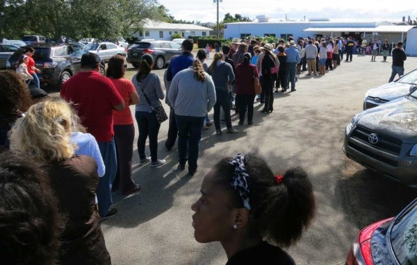 Knaus Berry Farm in Homestead: The wait was one hour and 15 minutes for this Saturday afternoon line.