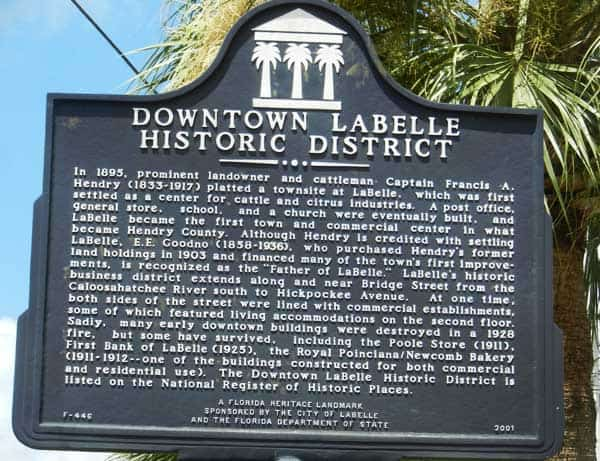LaBelle historic district sign