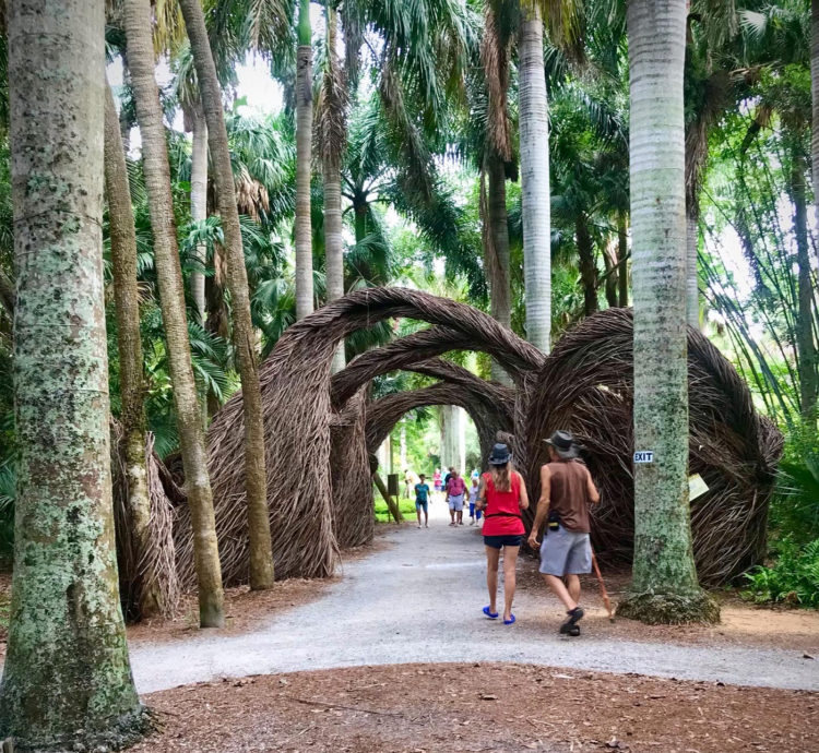 The stickwork structure at McKee Botanical Garden is a whimsical feature created by acclaimed artists by hand. (Photo: Bonnie Gross)