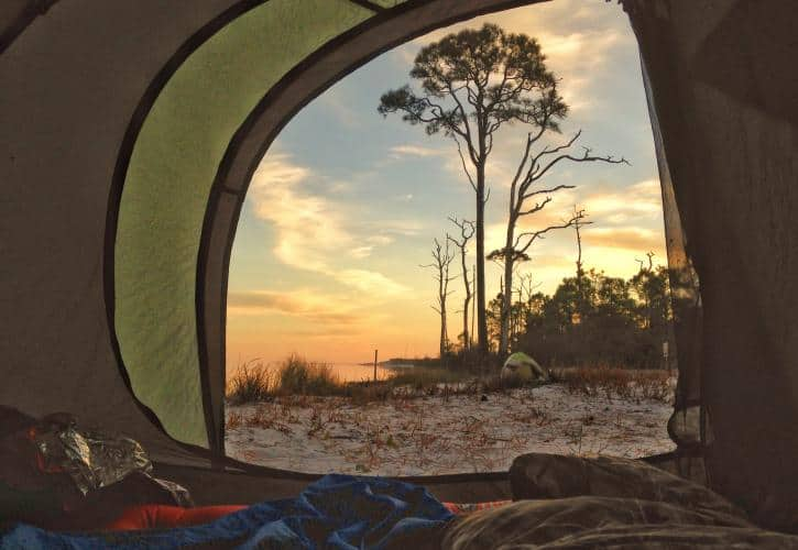 St George Island tent Beach camping in Florida: 14 sandy sojourns