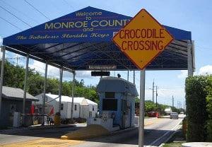 Alabama Jack's crocodile crossing sign, Florida Keys