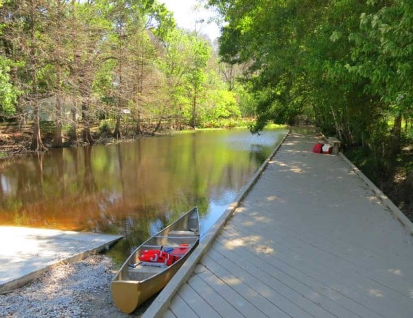 Launch site for kayaking Arbuckle Creek FL.