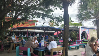 Archie's Seabreeze, located across A1A from the beach, opened in 1947. It offers an expansive open air dining area and bar. (Photo: Bonnie Gross)