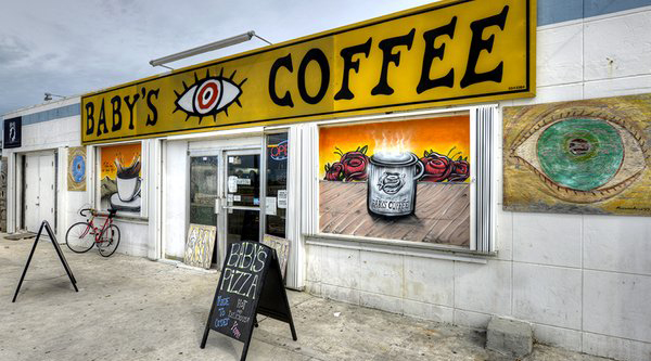 The best coffee among Florida Key restaurants can be found at Baby's Coffee at MM 15.