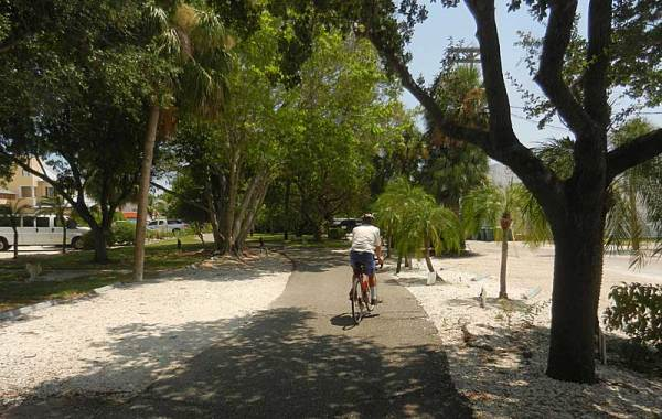 The bike trail on Boca Grande, a Gulf Coast Florida island.