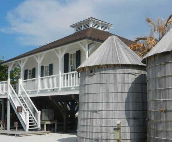 The historic lighthouse at the tip of Boca Grande, a Gulf Coast Florida island,