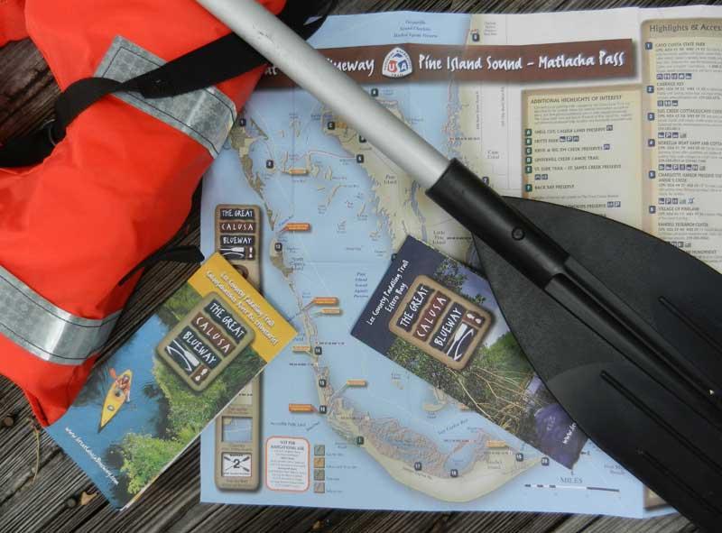 Kayaking Fort Myers waterways: Calusa Blueway kayaking trail maps. (Photo: Bonnie Gross)