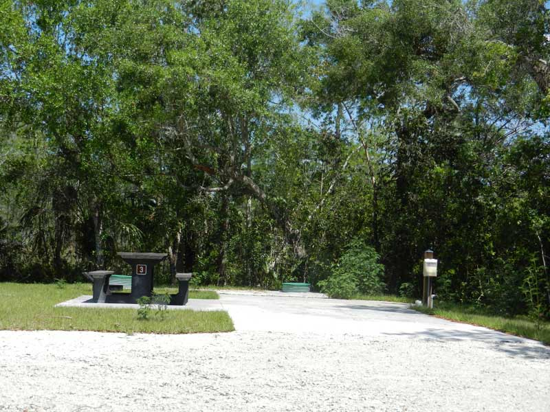 Campsite at Mitchell's Landing along Loop Road in Big Cypress