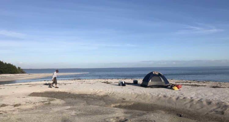 Our East Cape Sable campsite. (Photo: Bonnie Gross)