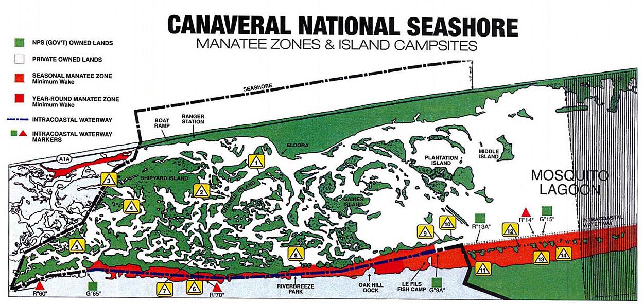 canaveral national seashore camping map