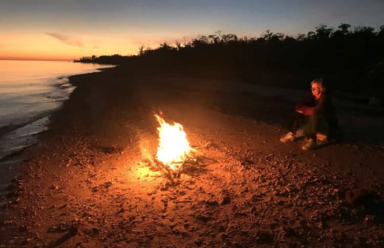East Cape Sable camping: There's nothing better than a beach campfire. (Photo: David Blasco)