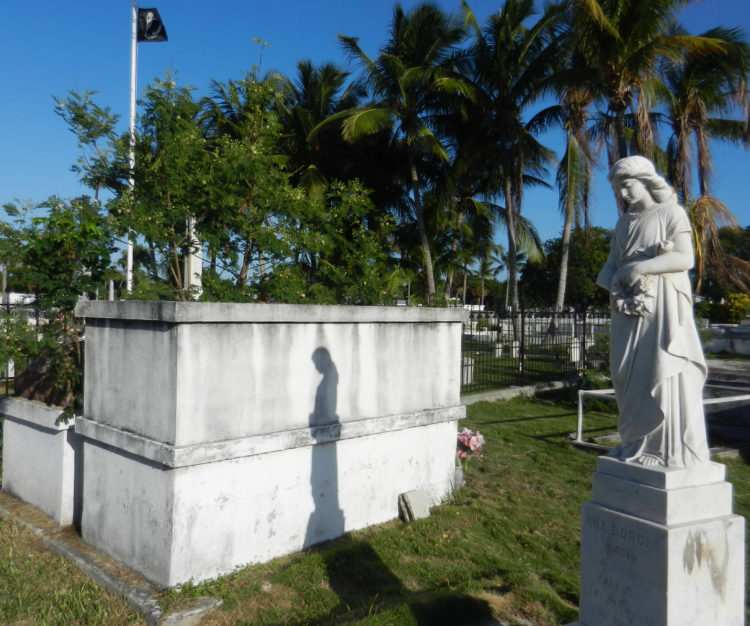 Key West Cemetery: Above-ground graves and historic statues. (Photo: Bonnie Gross)