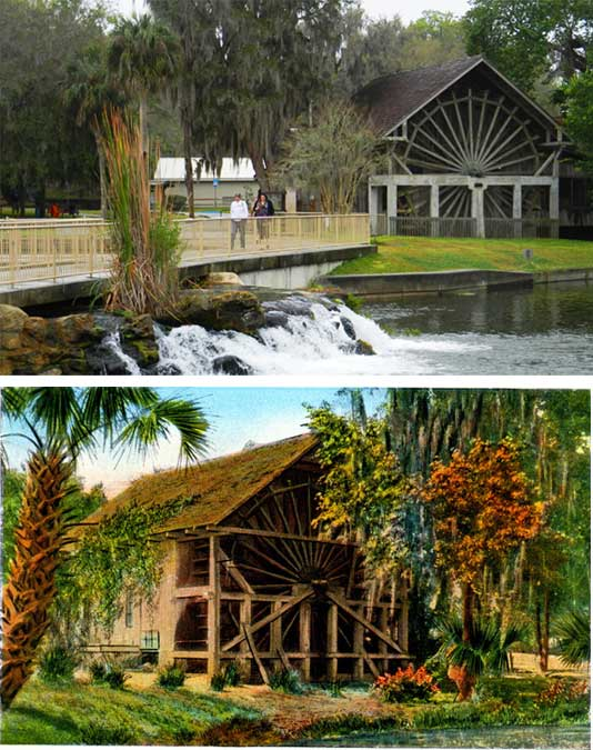 Ponce De Leon Springs State Park: The Old Sugar Mill then and now