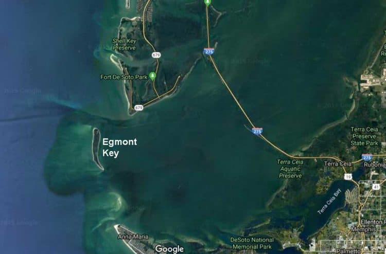 Egmont Key is an island at the mouth of Tampa Bay, accessible only by boat.
