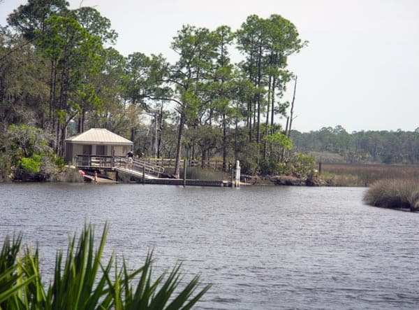 kayak and boat launch at Faver-Dykes State Park
