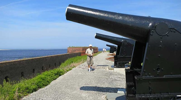 Cannons at Fort Clinch State Park on Amelia Island have a great view of the St. Mary River and Atlantic.(Photo: Bonnie Gross)